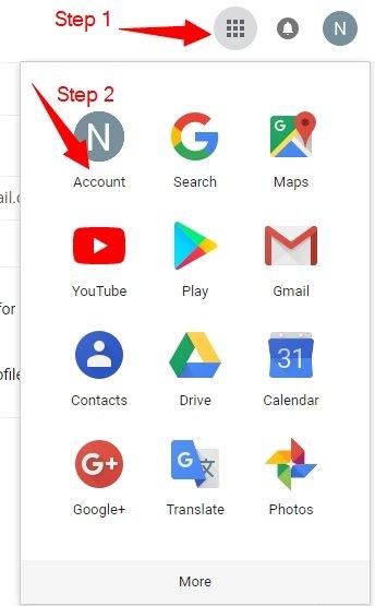 Select Google service